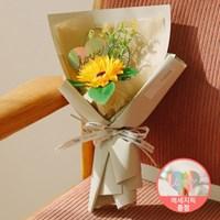 [LOVE픽]쥬아나 한송이 해바라기 비누꽃다발 선물_(100880563)