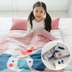 [단독]어린이집 토퍼형 낮잠이불세트 + 어린이집고리수건 4장세트
