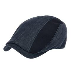 [플릭앤플록]IMH08.데님 배색 헌팅캡 남성 골프 모자