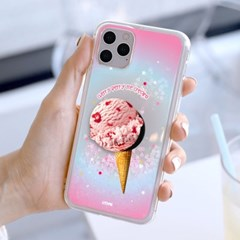 아이스크림 톡톡 블링 글리터 케이스