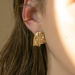 gold fabric earrings