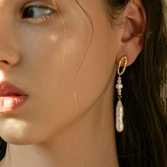 atlantic pearl earrings (2colors)
