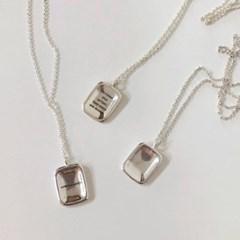 [92.5 silver] Knock coin necklace