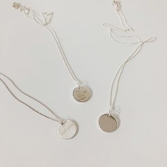[92.5 silver] Round coin necklace (2 type)