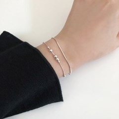 [92.5 silver] Raindrop bracelet