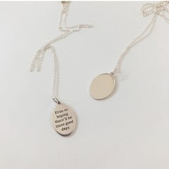 [92.5 silver] Oval coin necklace
