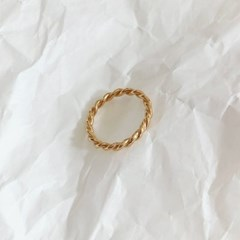[92.5 silver & 14k gold plated] Bold twist ring