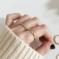 [92.5 silver & 14k gold plated] Engage ring