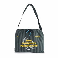 [monchouchou] MCC Perspective Sling-Bag Khaki Stripe