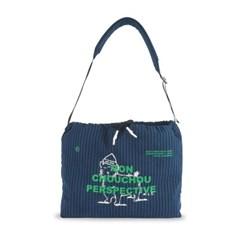 [monchouchou] MCC Perspective Sling-Bag Navy Stripe