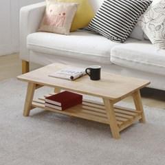 [잉카] 고무나무 원목 선반형 접이식 테이블 900