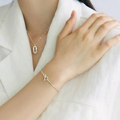 [매디]오프화이트 Minimal Chain Bracelet