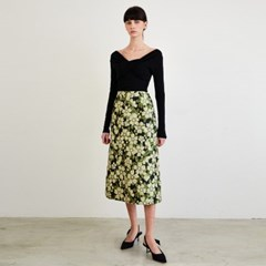 Bella Flowy Jacquard Skirt_(149337)