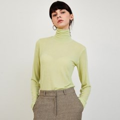 Janet Stretch Wool Turtleneck_Green_(149331)