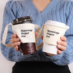 [NPE 드링크백 컵홀더] 카페 커피 테이크아웃 패브릭 슬리브 가방