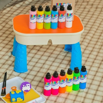 [따블리에] 핑거 페인트 유아 물감 120ml 6색세트