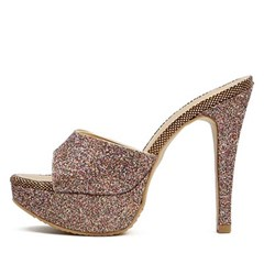 kami et muse Glittering stone beads heel slippers_KM19w345