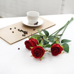 장미꽃 조화 로즈데이 성년의날 프로포즈 로맨틱 3송이 장미