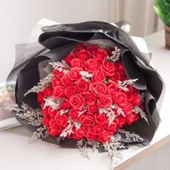 블랙100송이짚소 장미 꽃다발 80cmP 조화 꽃 프로포즈
