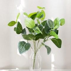 7대잎 피토니아 40cm 조화 식물 장식 그린 인테리어 FAIBFT