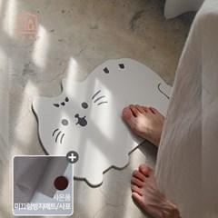 수분 순삭 규조토 발매트 욕실매트(미끄럼방지패드&사포 증정)