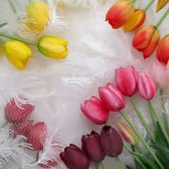 튤립 꽃다발 봄 꽃 플라워 조화 예쁜 인테리어 소품