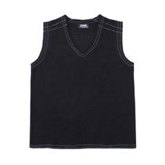 stitch vest (black)