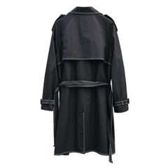stitch double trench coat (black)