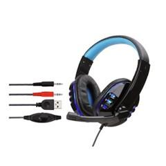 마운트 733MV LED 게이밍헤드셋(블루) / 유선헤드셋