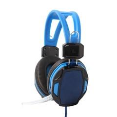 플리스 게이밍 헤드셋(블루)/pc 게임용 마이크헤드셋