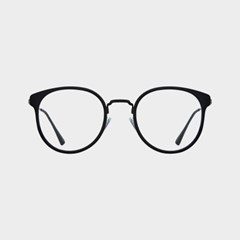 LOWELL black 안경테 동그란얼굴형 압축 복고풍_(1974083)