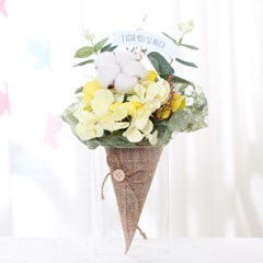 [데코봉봉]플라워 아이스크림콘 꽃다발(옐로우)