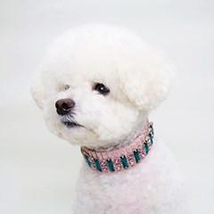 슈바독-핑크벨벳 초커 목걸이
