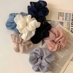 [7 color] 여자머리끈 파스텔 쉬폰 풍성 머리곱창
