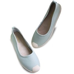 kami et muse Cute toe sneakers style leather flat_KM19w351