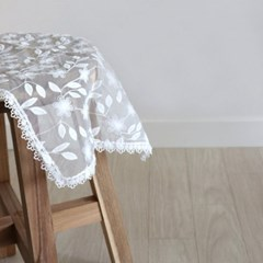 화이트 쉬폰 도일리 레이스 테이블 매트