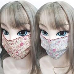 중형 대형 일회용 대량구매 끈 면 꽃 마스크