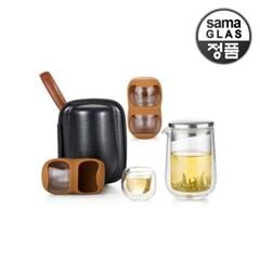사마글라스 휴대용 티포트 가방 티세트 (4인용) L005X