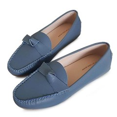 kami et muse Fine stitch ribbon leather loafers_KM19w354