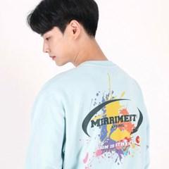 (UNISEX)Splash Color Sweatshirt(SKY BLUE)_(1470266)
