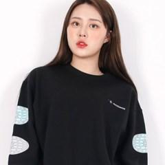 (UNISEX)3 Globe-Star Sweatshirt(BLACK)_(1470628)