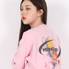 (UNISEX)Splash Color Sweatshirt(PASTEL PINK)_(1470264)