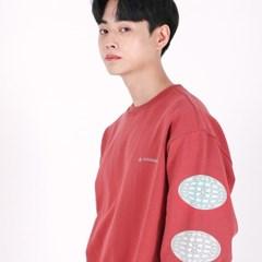 (UNISEX)3 Globe-Star Sweatshirt(INDI PINK)_(1470257)