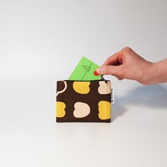 autumn-brown card wallet