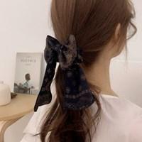 페이즐리 리본 스크런치 헤어슈슈 곱창 머리끈 3color