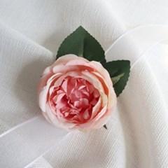 브라이덜샤워소품 피오니 피치 꽃팔찌