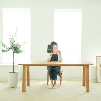 [오크]오크원목 블루보틀 다이닝 테이블 A다리 2000 6인테이블