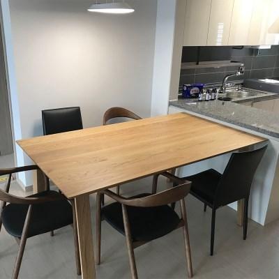 [오크]오크원목 블루보틀 다이닝 테이블 A다리 1800 4인 6인테이블