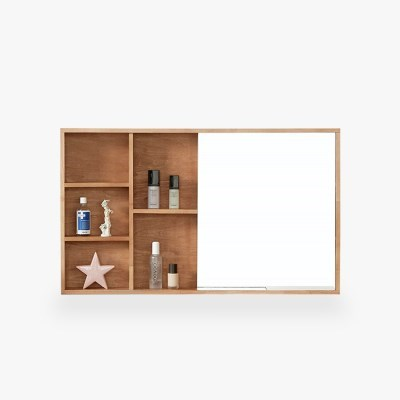 미네뜨 원목 수납형 거울