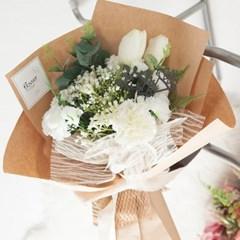 클린 카네이션 꽃다발 52cm P5 조화 어버이날 스승의날 선물 감사